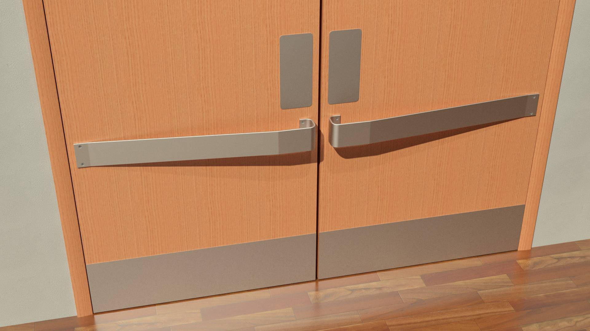 Wallguard.comu0027s kick plates and door protection profiles offer durable economical protection against constant punishment from equipment and pedestrian ... & Door Protection Kick Plates Door Frame Protection from Wallguard.com