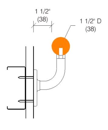 2050 Handrail 1 1 2 Quot Diameter Oak Maple Ash