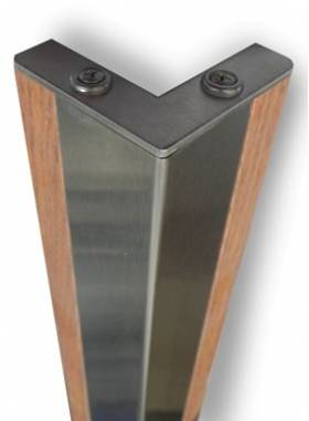 2390 Wood & Stainless Steel Corner Guard